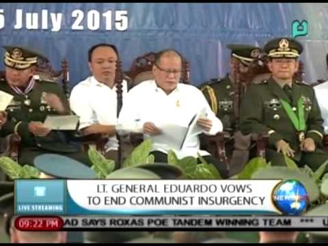 NewsLife: Lt. Gen. Eduardo vows to end communist insurgency || Jul 15, 2015