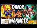 MAGNET WARRIORS vs DINOSAURS! (Yugioh Roleplay Deck Duel!)