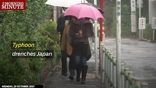 Typhoon drenches Japan