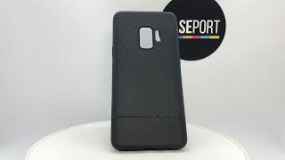 Фото Ультра тонкий чехол на Samsung Galaxy S9 под карбон серии Fit от Caseport
