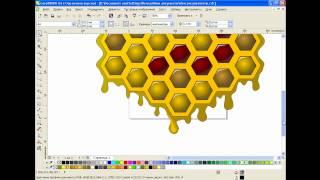 Рисуем медовые соты в CorelDRAW