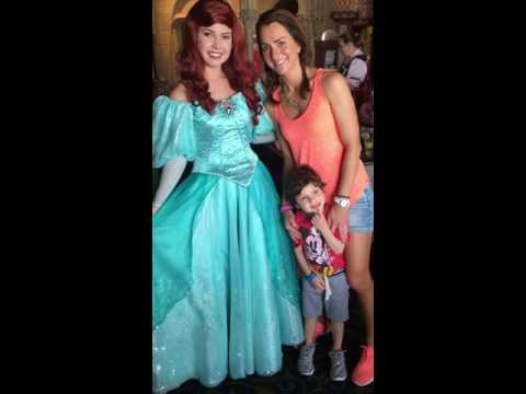 Jonah Meeting Princess Ariel at Cinderella's Royal Table Restaurant 5 1 2016