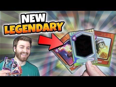 NEW CLASH CARDS OPENING! WE GOT A NEW LEGENDARY!    Clash Royale   GEM FOIL LEGENADRY HUNT #1