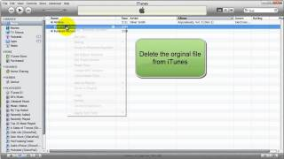how to convert a file to an mp3 with itunes
