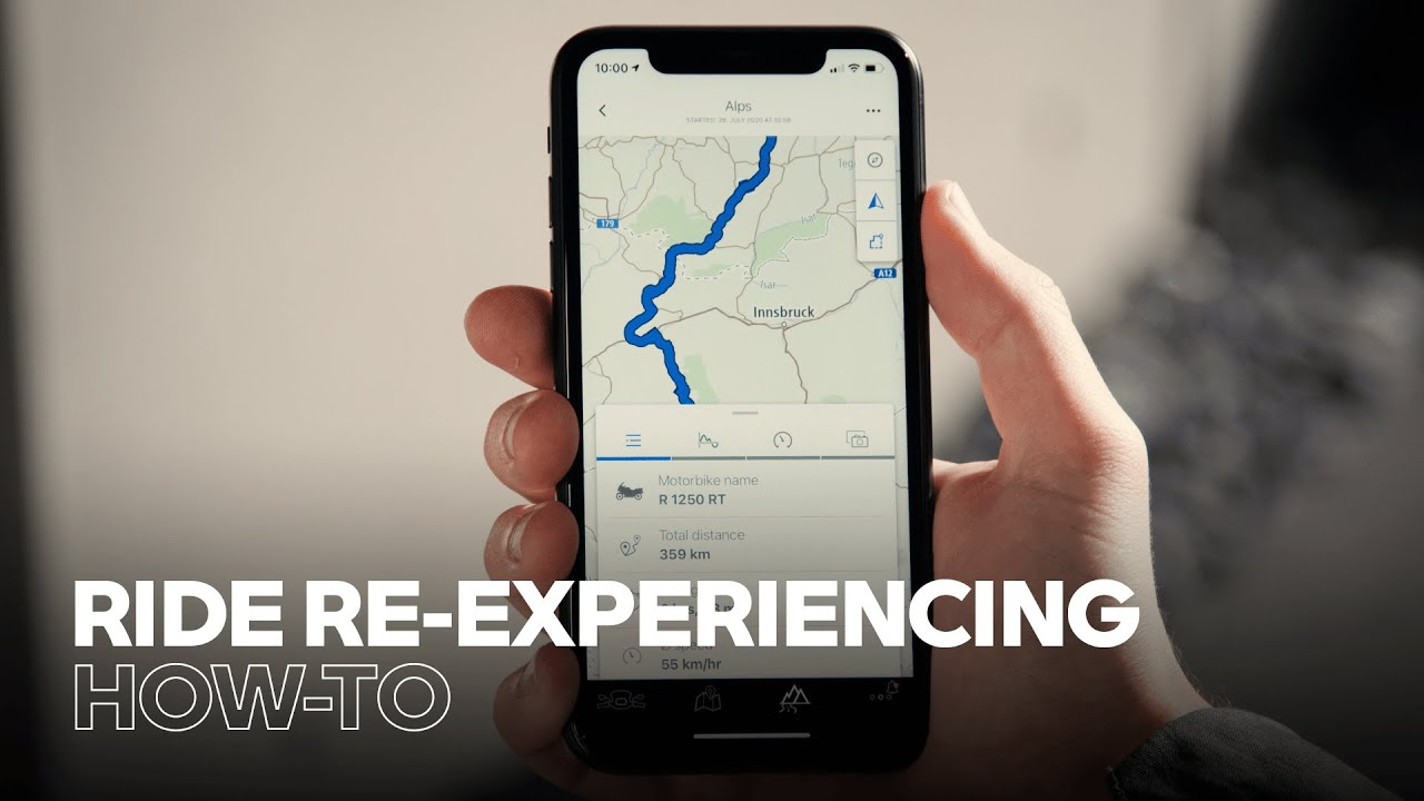 How to Re-Experience Rides With the BMW Motorrad Connected App