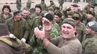 Чеченцы и сборная солянка. Достойная борьба. Перетягивание танкового троса.