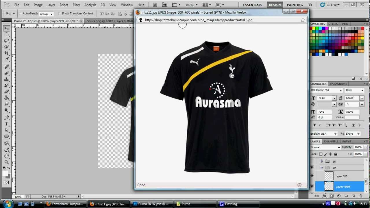 How To Make A Football Shirt On Adobe Photoshop - YouTube