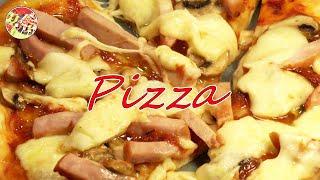 Пицца с ветчиной сыром шампиньонами Настоящий итальянский вариант Очень вкусно