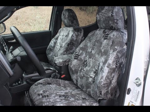 2016 F150 Seat Covers >> 2016 Toyota Tacoma Seat Covers- Kryptek Raid Pattern - YouTube