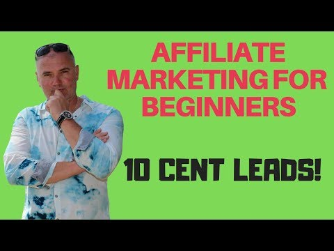 Affiliate Marketing for beginners | where to get 10 CENT leads? video marketing tips