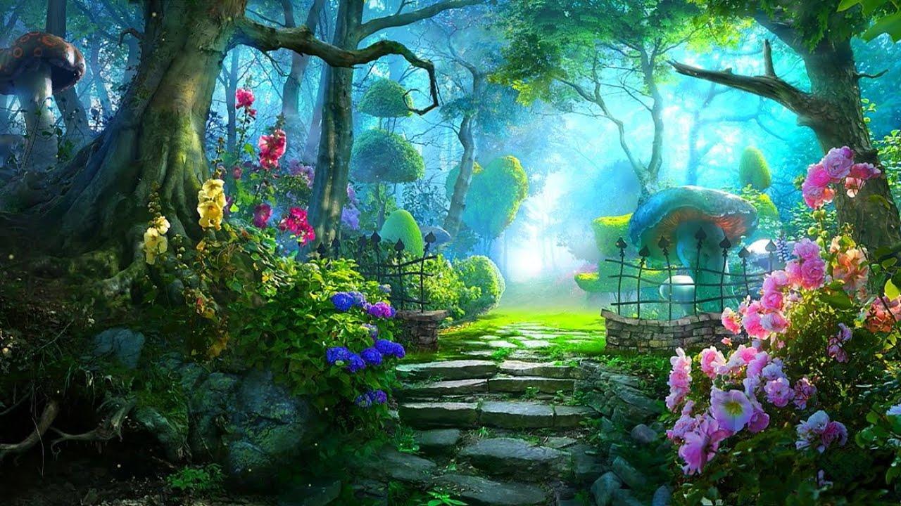 Fall Woodland Creatures Wallpaper Yza Marae Enchanted Garden 7th Birthday Party Youtube