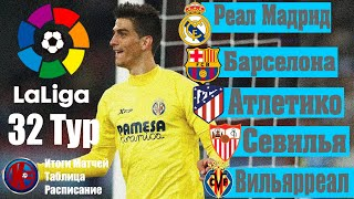 32 тур Чемпионат Испании по футболу ЛА ЛИГА 2019 2020 Итоги матчей 32 тура расписание 33 тура