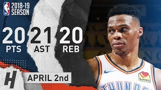 Russell Westbrook EPIC 20-20-20 Triple-Double To Honor Nipsey Hussle