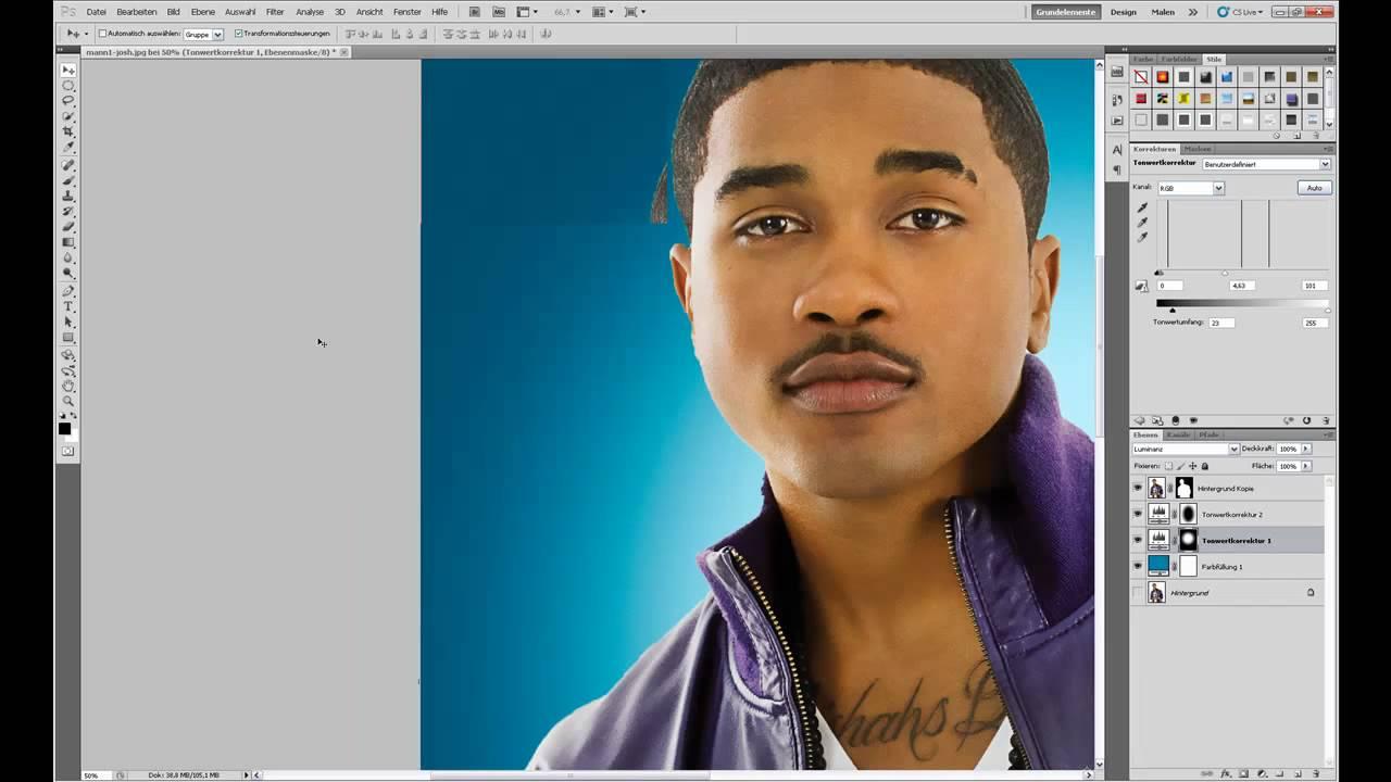 Photoshop Tutorial Blauen Lichtkegel Hintergrund Erstellen Blue