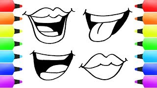 mouth cartoon easy drawing draw fun kid coloring pages clipartmag