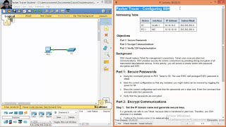 2 2 1 4 Packet Tracer - Configuring SSH by Christian Augusto Romero  Goyzueta II