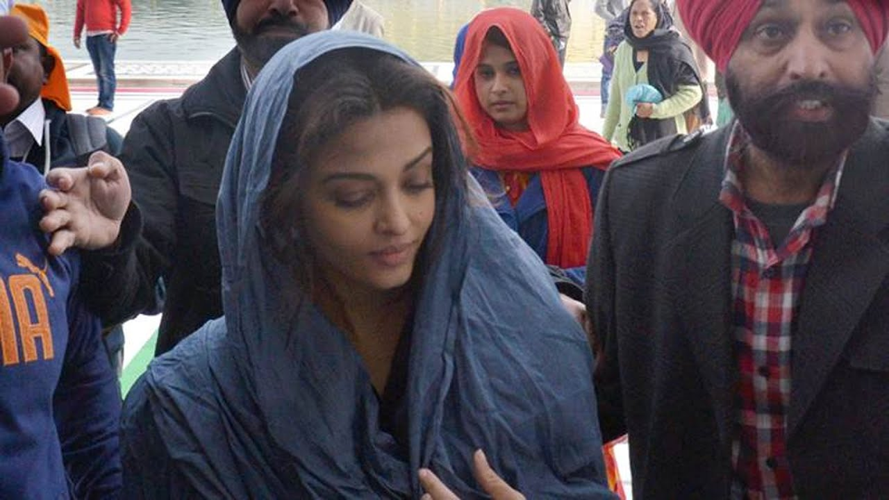 Aishwarya Rai Bachchan Visits Golden Temple Amritsar Youtube
