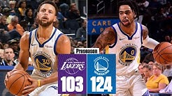 Steph Curry and D'Angelo Russell score 61 points in Warriors' win vs. Lakers | 2019 NBA Highlights