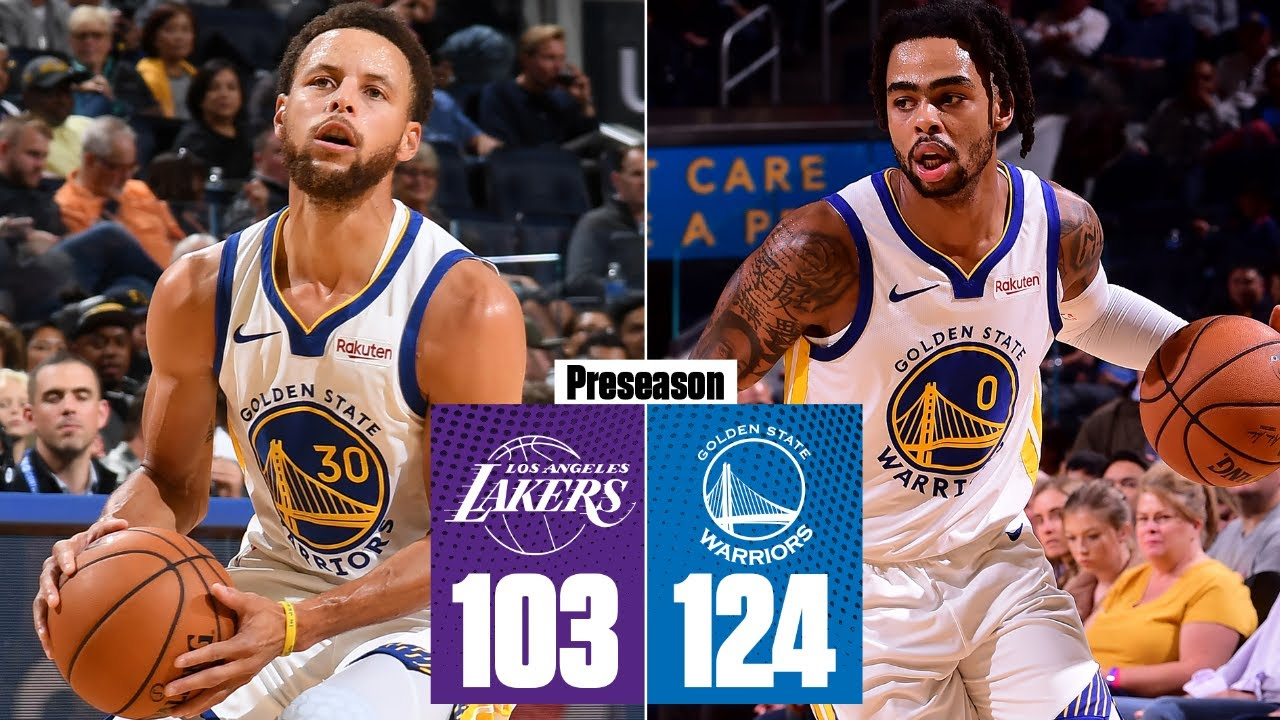 Download Steph Curry and D'Angelo Russell score 61 points in Warriors' win vs. Lakers   2019 NBA Highlights