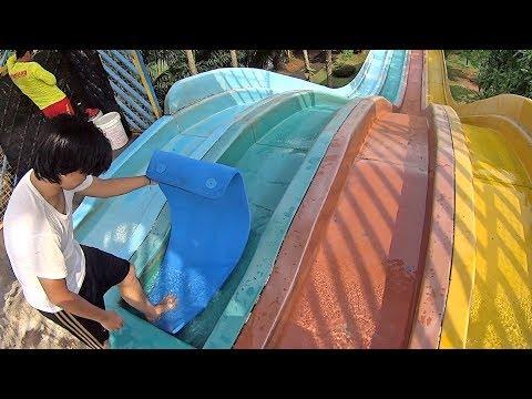 Racing Water Slide at Water Kingdom Mekarsari