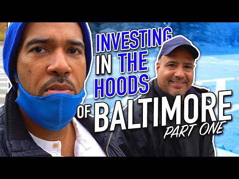 Investing in Baltimore real estate auction in the hood-Row houses