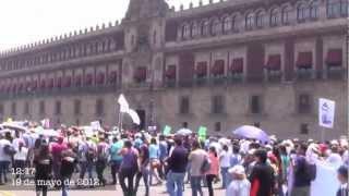 MARCHAYOSOY132 LA GENTE EN CONTRA DE PEÑA NIETO EN MEXICO DF