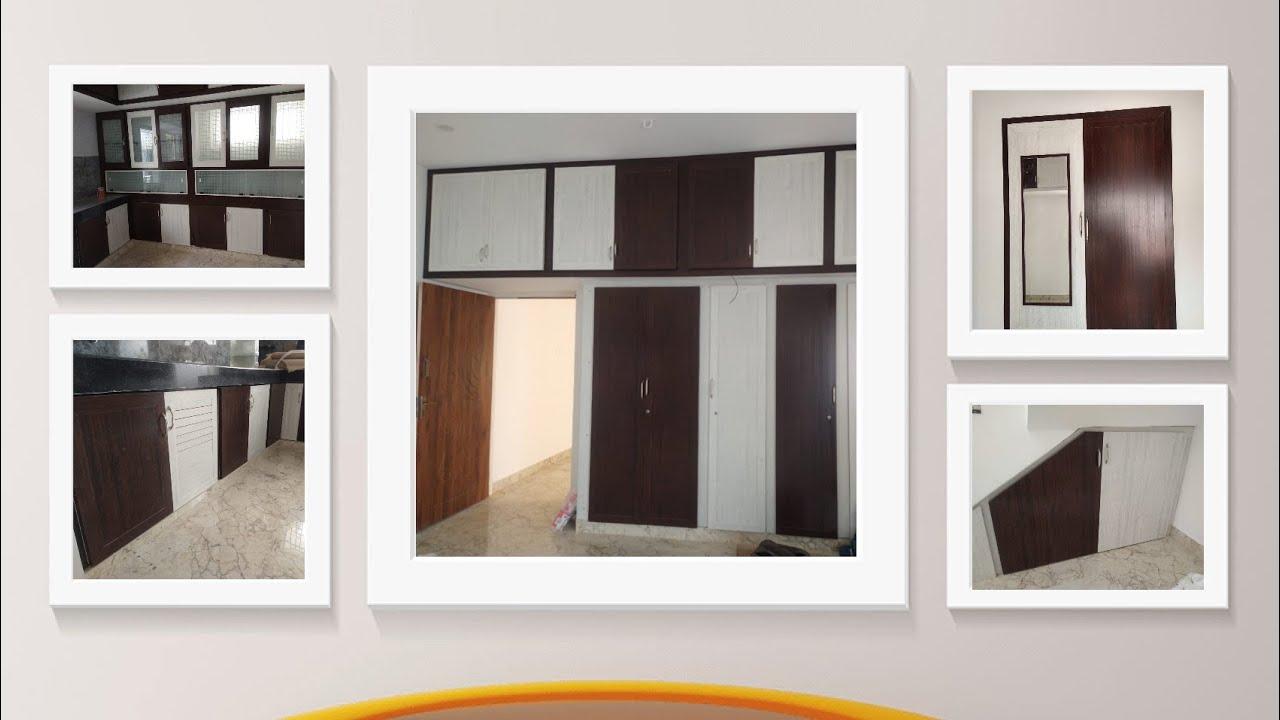 Silver Brown Colors Pvc Cupboard Pvc Modular Kitchen Cabinets Redme Interio Youtube