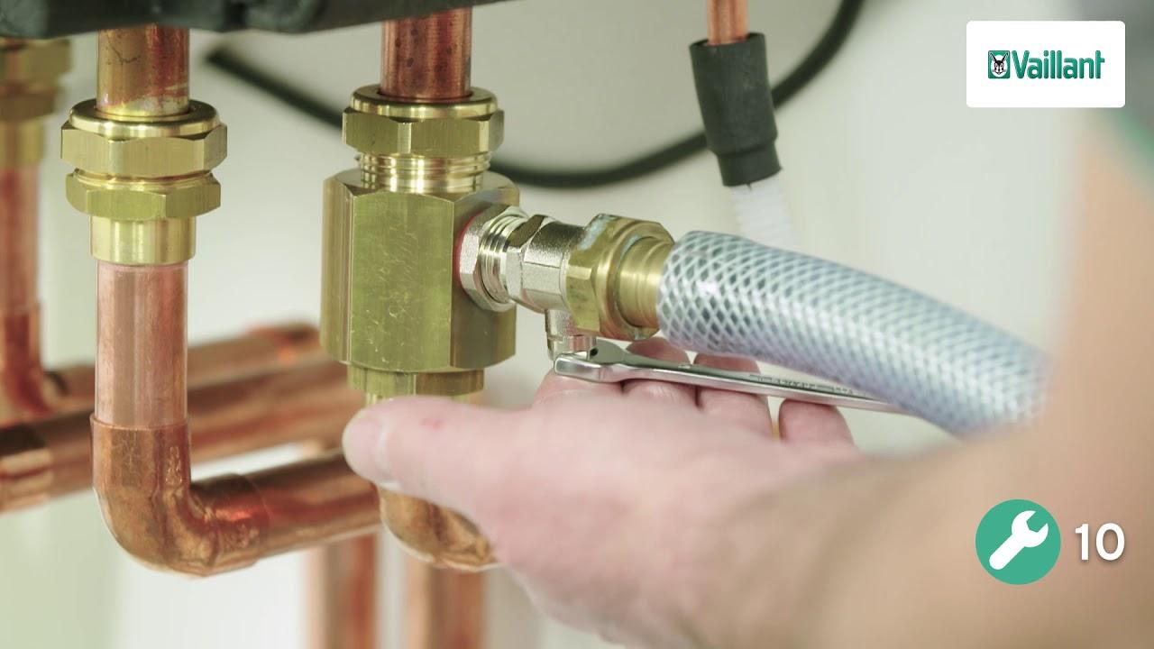 remplissage du circuit chauffage du module hydraulique mural