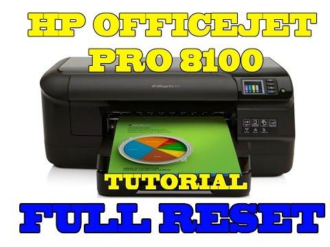 Como resetear HP 8100