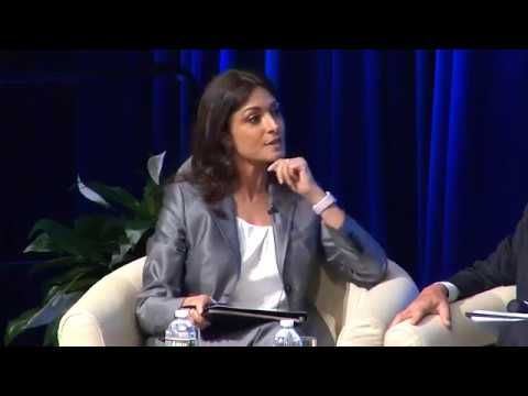 Ghida Fakhry moderating at The WB-IMF Spring Meetings 2017 - Unlocking Climate Financing