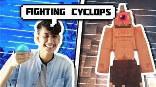 MINECRAFT FIGHTING CYCLOPS MONSTER  IN RL CRAFT #1  ||  FUNNY ANDROID HINDI MINECRAFT GAMEPLAY