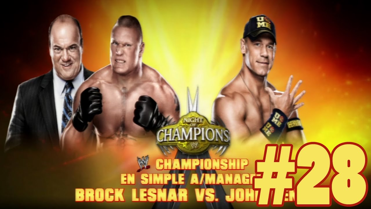 wwe 2k14 - greatplay #28 fr - brock lesnar vs john cena - youtube