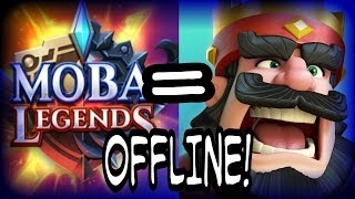 Mobile Legends And Clash Royal Mode Offline