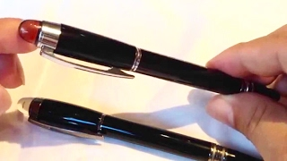 Comparing the MontBlanc Starwalker fineliner pen to a cheap imitation