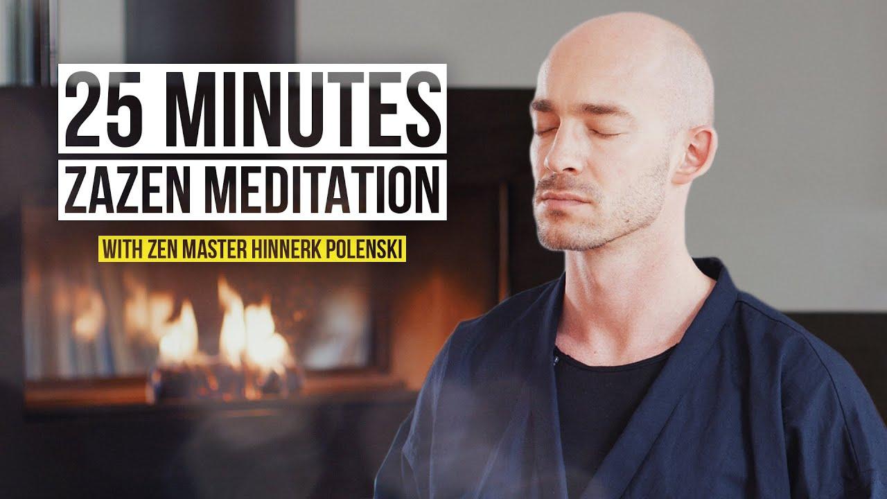 25 Minute Zazen Meditation | Path to the inner center with Zen-Master Hinnerk Polenski