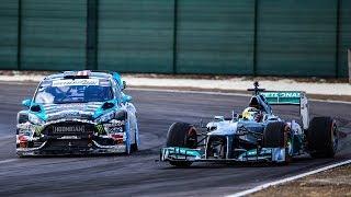 Льюис Хэмилтон vs Кен Блок: Формула 1 vs Ралли-кросс на гоночном трэке