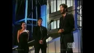 2004 Keanu Reeves accepts the Taurus Honorary Award for Action Movie Star