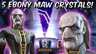 5x 6 Star Ebony Maw Cavalier Featured Crystal Opening! - Marvel Contest of Champions