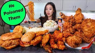 Huge KFC Fried Chicken MUKBANG | Eating Show