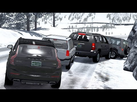 Traffic Jam Car Crashes Compilation (2) - BeamNG.Drive