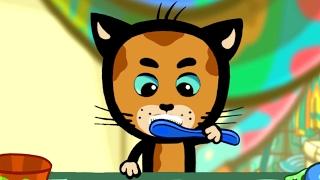 Так мы чистим зубки - обучающие и развивающие мультфильмы для детей и малышей - Три котенка: песенки