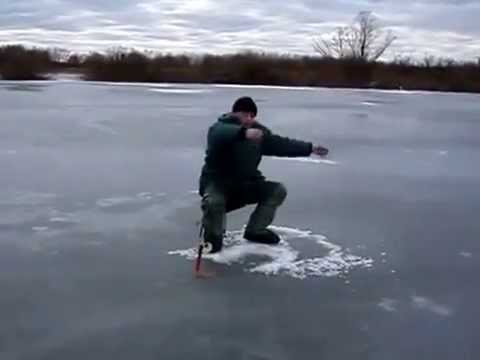 On ice fishing funny - YouTube