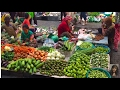Asian Street Food,  Daily Life In Cambodian Market, Asian Market Street Food