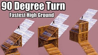 How to perfect the 90 Degree Turn (Fastest High Ground Strategy) - Fortnite Battle Royale