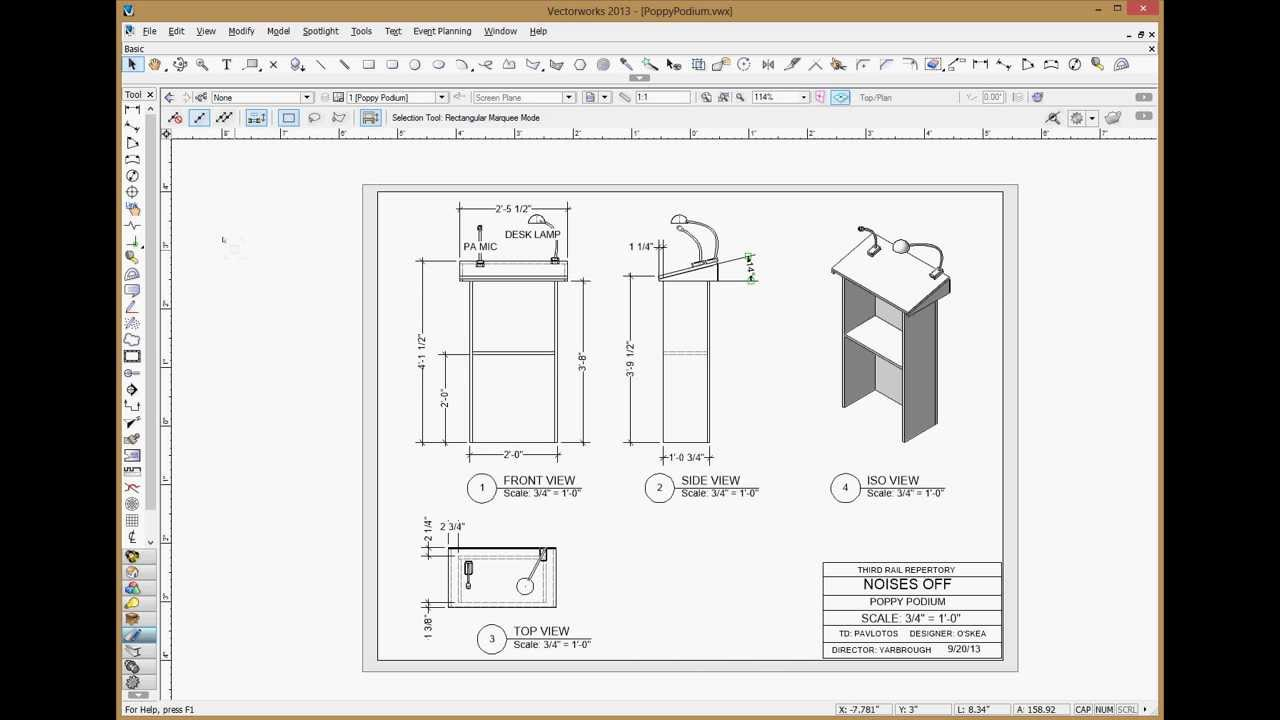 vectorworks how to create elevation view