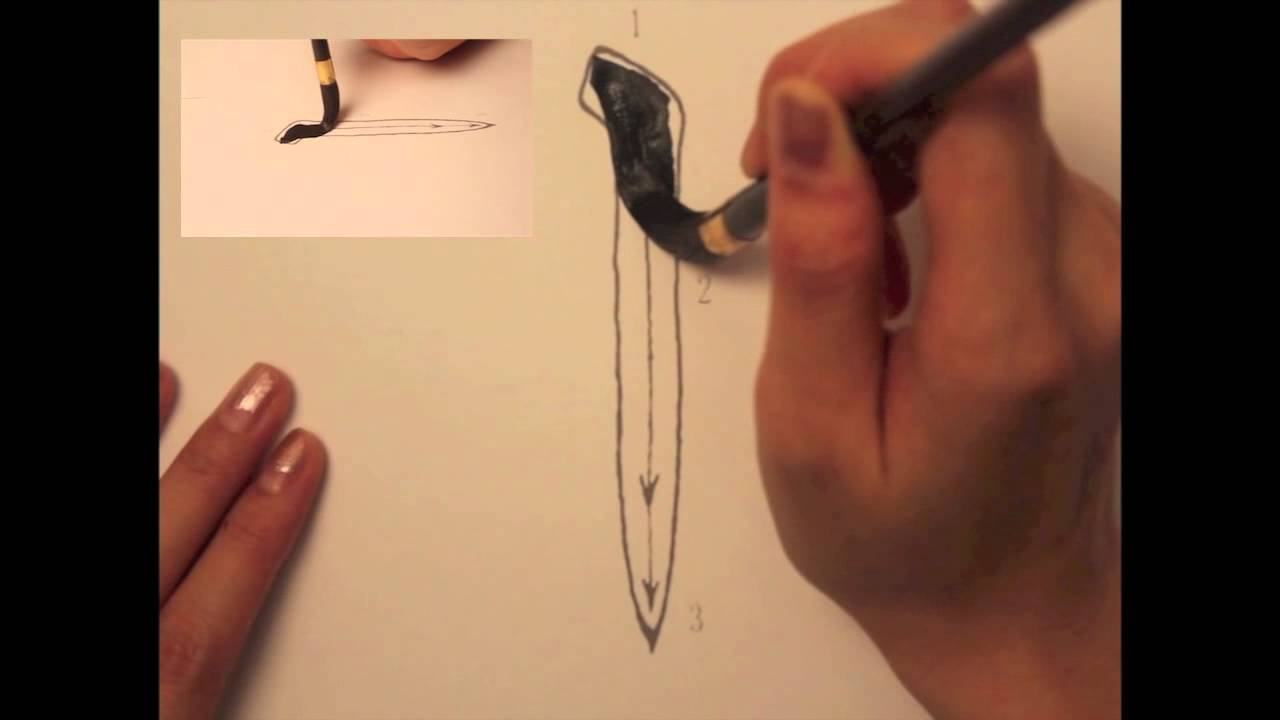 Chinese calligraphy learning