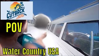 Cutback REAL POV Water slide coaster Water Country USA Williamsburg Virginia Busch Gardens uphill