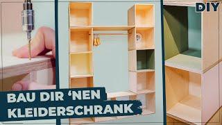 Easy Kleiderschrank modular selber bauen! Schrank DIY mit Maria von @Auf Klo