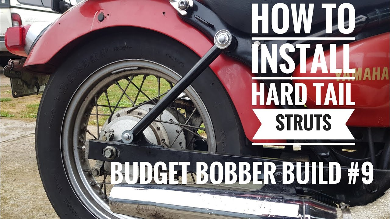 Budget Bobber Build #9 | How to Install Hell Bend Hardtail Lowering Struts  on Yamaha Virago XV250