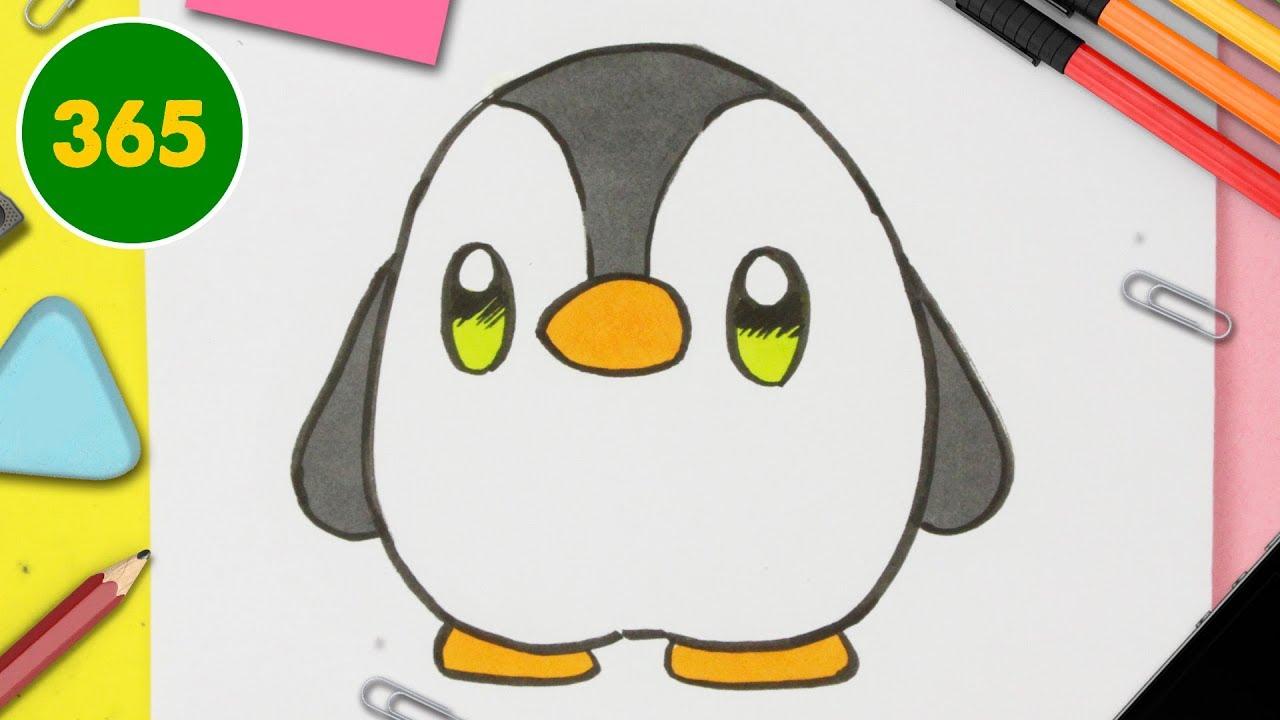 Comment Dessiner Un Pingouin Kawaii Comment Dessiner Des Animaux Facile Youtube